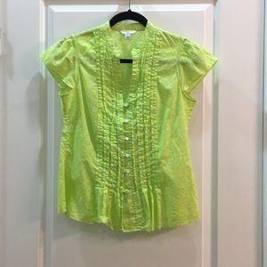 Banana Republic lime green blouse, size PS
